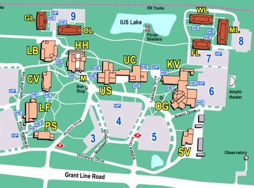 Campus Map - Right Side
