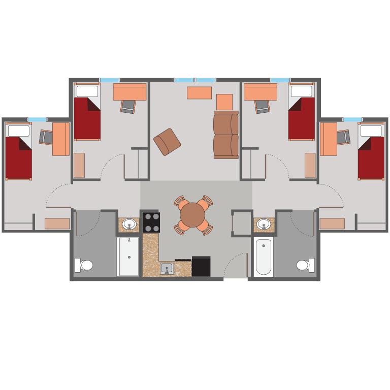 Iu Academic Calendar Spring 2022.Rates And Floor Plans About Us Housing Residence Life And Housing Indiana University Southeast