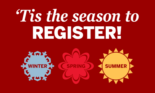 Fall classes fill up quick, so don't wait to sign up!