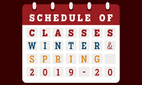 View the Schedule of Classes