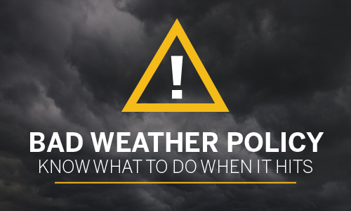 Know what to do when bad weather hits before it hits