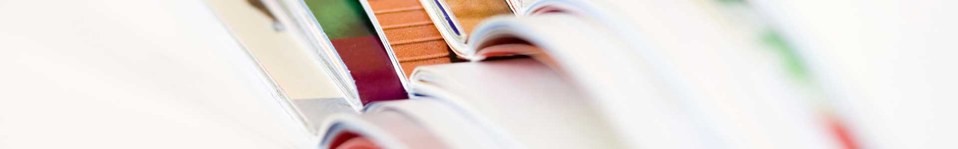 A reference book is flipped open